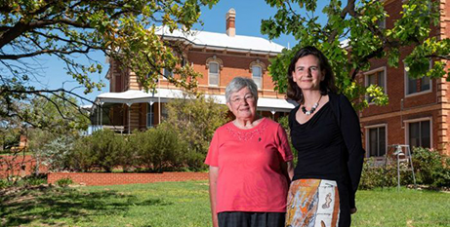 Sr Patricia Powell and Sally Neaves at Rahamim Ecology Centre in Bathurst (ABC Central West/Luke Wong)