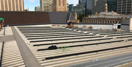 Solar panels on the roof of the Diocesan Centre in Adelaide (The Southern Cross)
