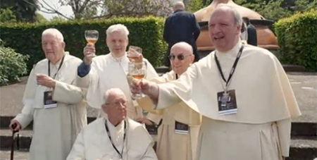 The Grimbergen Abbey monks taste their new beer (ABC News)