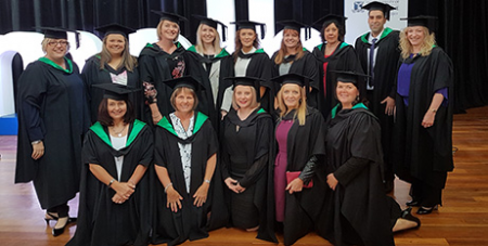Master of Clinical Teaching graduates from Diocese of Sale (Supplied)