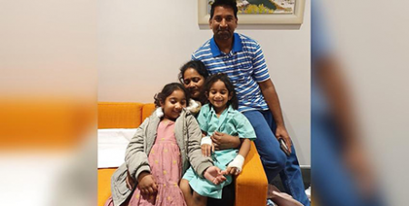 The Murugappan family are in community detention in Perth (SBS News/Supplied)