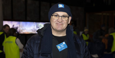 Canberra businessman Mirko Milic at the 2021 Vinnies CEO sleepout (Thomas Lucraft/RiotACT)