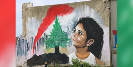 A mural close to the explosion site at the Port of Beirut (ACN)