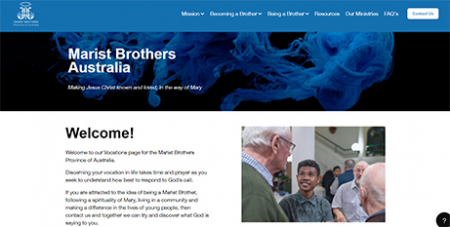The new website includes material that can assist a person discerning life as a Marist Brother (Supplied)