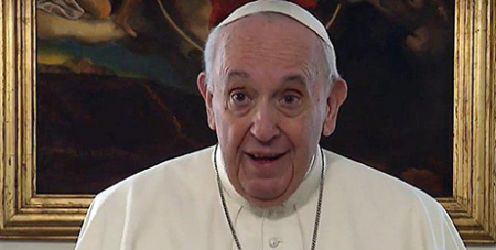 Pope Francis in the Worldwide Prayer Network's latest Pope Video (CNS/Vatican Media)