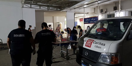 Caritas Lebanon offers emergency relief in Beirut following the explosion (Caritas Australia)