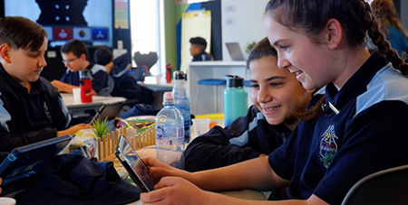 Students trial the new approach to learning about faith at St Joseph's Primary Schofields (Catholic Outlook/Catholic Education Diocese of Parramatta)