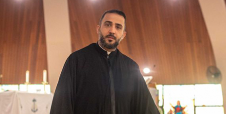 Fr Tony Sarkis of Our Lady of Lebanon Co Cathedral in western Sydney (ABC News/Jonathan Hair)