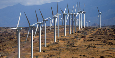 The Lake Turkana Wind Power Project turbines in Marsabit, Kenya (CNS/Reuters, Thomas Mukoya)