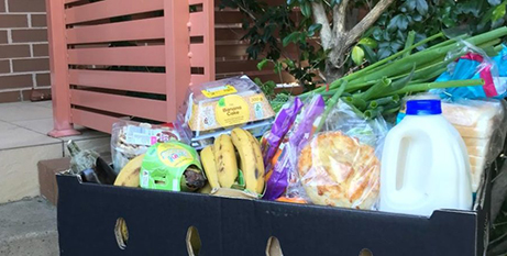 Donated hampers of nutritious food make all the difference to some families in CatholicCare's programs (Parramatta Diocese)