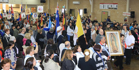 The Latin American Catholic community at Mass to honour Our Lady of Guadalupe (Catholic Outlook)