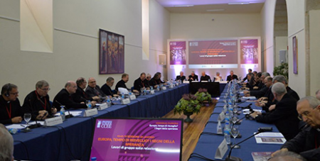 The concluding session of the Council of European Bishops Conferences' plenary assembly (CCEE)
