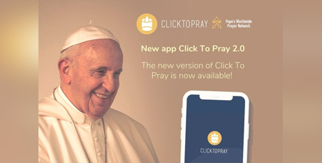 The updated Click to Pray app has added features, including notifications to remind users to pray (CNS/Pope's Worldwide Prayer Network)