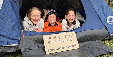 Participants slept out in their cars, on their couches or in their backyards (Vinnies NSW)
