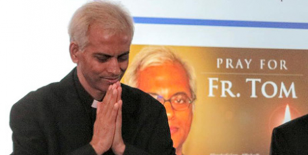 Fr Tom Uzhunnalil in Rome-four days after he was released in September 2017 (CNS/Junno Arocho Esteves)