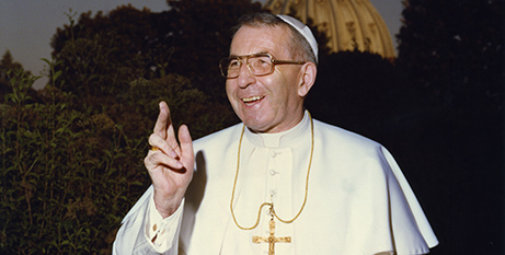 Pope John Paul I at the Vatican in 1978 (CNS/L'Osservatore Romano)