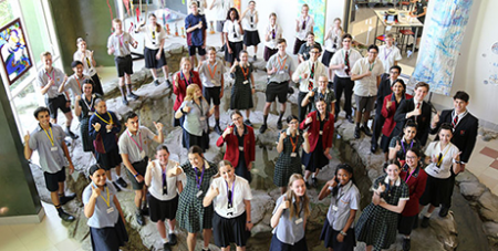 Brisbane Catholic high school students at the student plenary assembly at Brigidine College, Indooroopilly (The Catholic Leader/Mark Bowling)