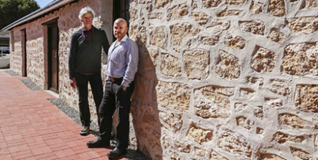 Architect Jonathan Strauss (left) and MercyCare major capital projects manager Adam Roebuck at The Stables (Supplied)