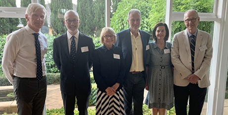 Steering committee members at the launch of Pilgrims 100 (The Southern Cross)