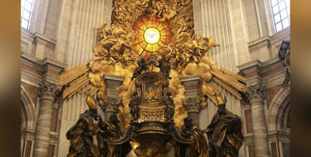 The Chair of St Peter (cathedra) in St Peter's Basilica, Vatican (Wikimedia/Dnalor_01)