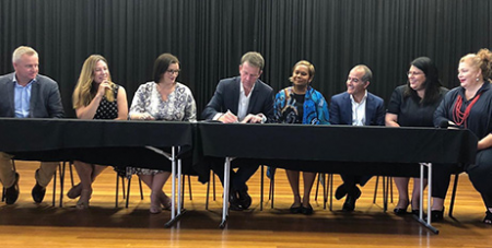 Education ministers sign the Alice Springs (Mparntwe) Education Declaration yesterday (Facebook/Dan Tehan MP)