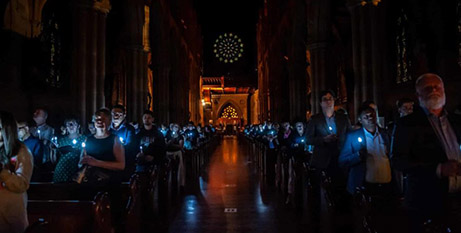The Christmas Remembrance Service at St Mary's Cathedral Sydney on Sunday (The Catholic Weekly/Giovanni Portelli)